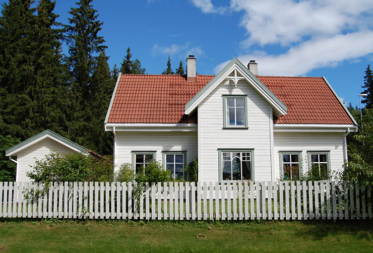 The 1990s house at Maihaugen, Lillehammer.