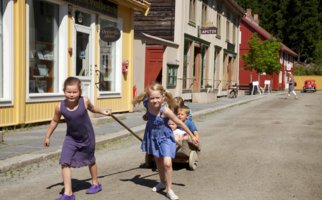 Children in the Town at Maihaugen, Lillehammer